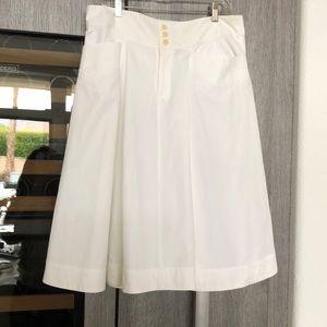 Ralph Lauren white cotton flare skirt